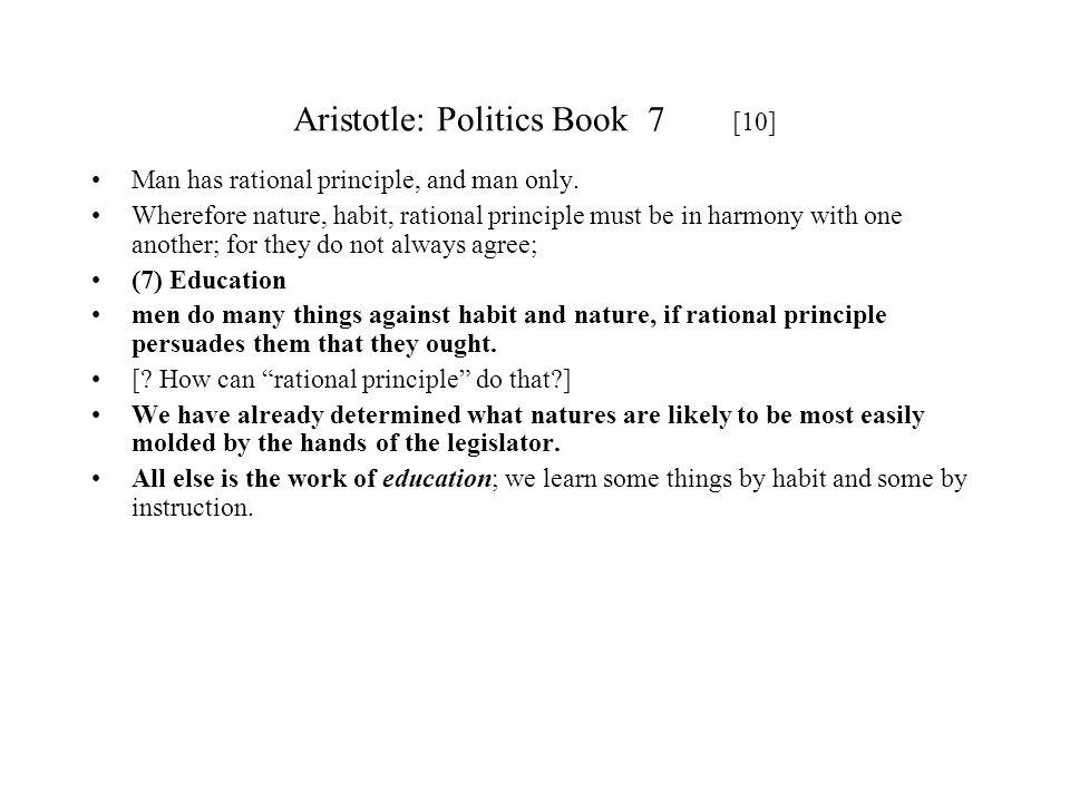 Aristotle: Politics Book 7 [10]